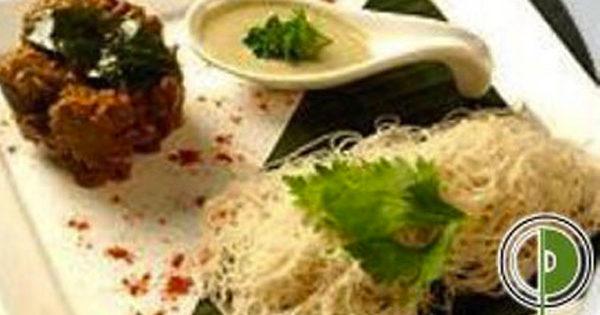 Chettinad Flavored Mutton with Caramalised Onion Walnut Chutney and Iddipams