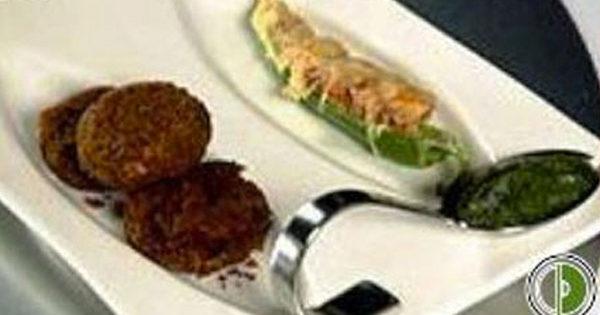 Kale Chane Ka Kebab with Mint Curd
