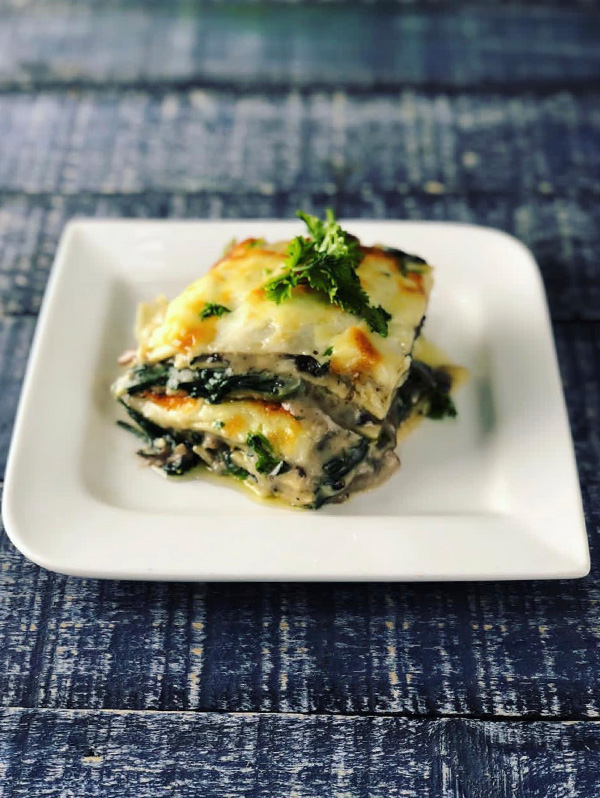 mushroom  spinach lasagna  masterchef pankaj bhadouria