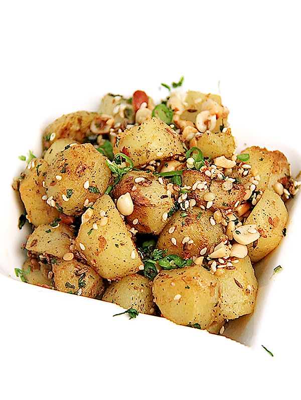 Spicy Peanut Potatoes Image